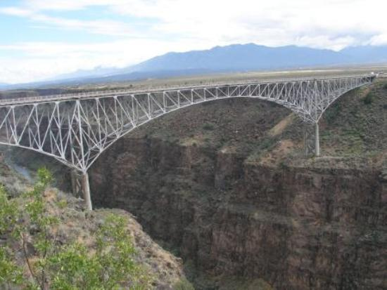 Bridge about 7 miles west of Taos, worth the drive.
