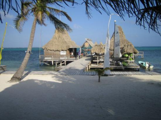 Ramon's Village Resort: the pier and dive shops(pier is great to go snorkeling off of!)