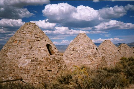 Ward Charcoal Ovens State Historic Park: Rear view of the Ovens..