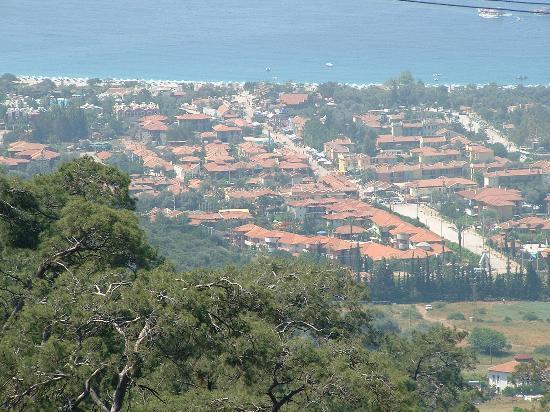NOA Hotels Oludeniz Resort Hotel: Olu Deniz from the top of the valley