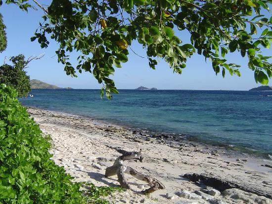 Tokoriki Island, Fiji: The beach in front of our bure