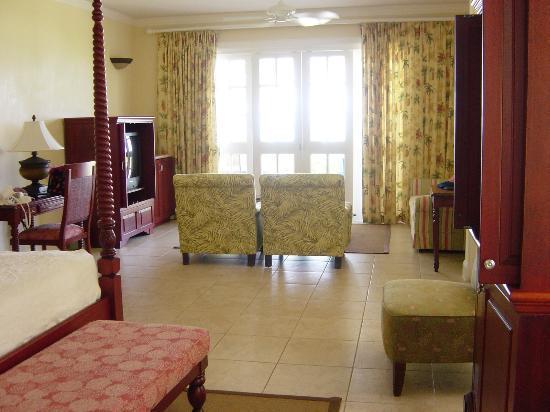 Half Moon : Hibiscus Jr Suite living room area