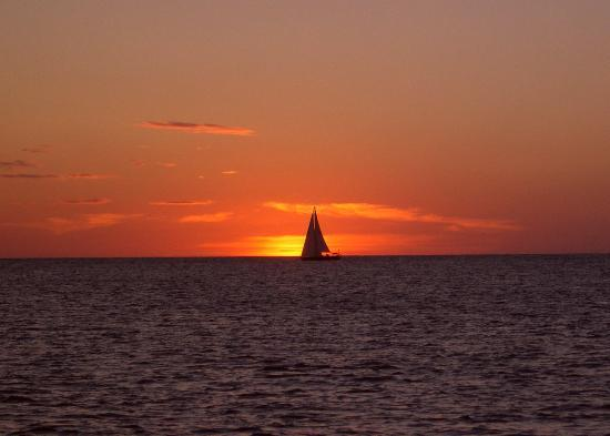Rodney Bay: Sunset from Rodney Bay