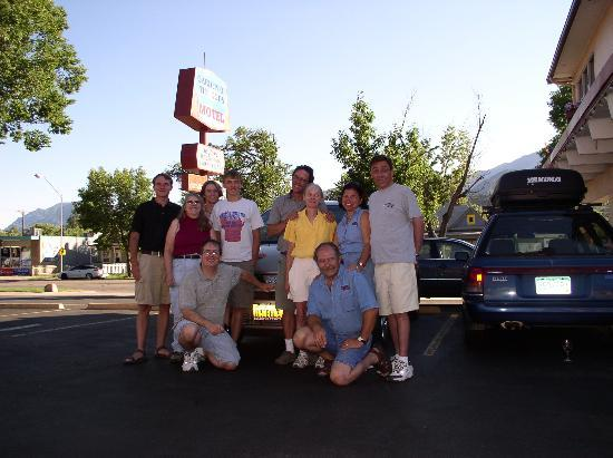 Our Group at the Garden of the Gods Motel