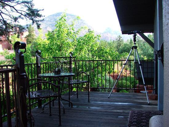 The Suites at Sedona: View from patio.  Thunder mountain