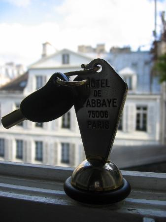 Hotel de l'Abbaye Saint-Germain: You won't lose the hotel key, that's for sure