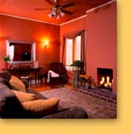 Inn at the Villa: We spent time together in this gorgeous living room in the Stanza 4 Suite