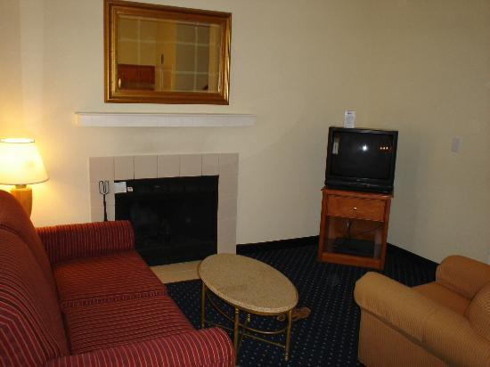 Residence Inn Binghamton: The livingroom area.