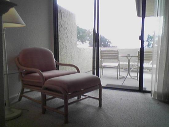 Seascape Resort: Patio and Reading Chair
