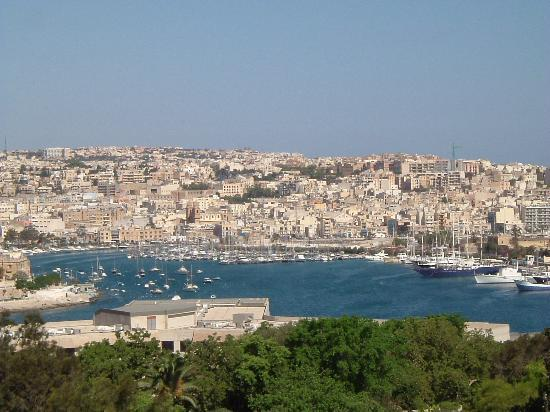 The Phoenicia Malta: View from our balcony overlooking the harbour.