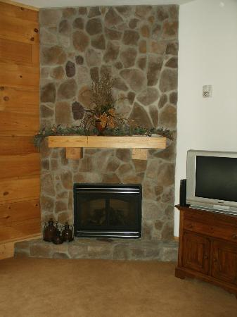 House Mountain Inn: The fireplace in the Little Big House Mountain Room.