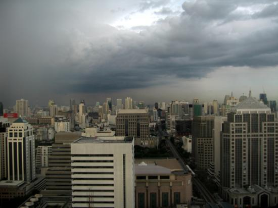 InterContinental Bangkok: A stormy view from the 32nd floor club reception