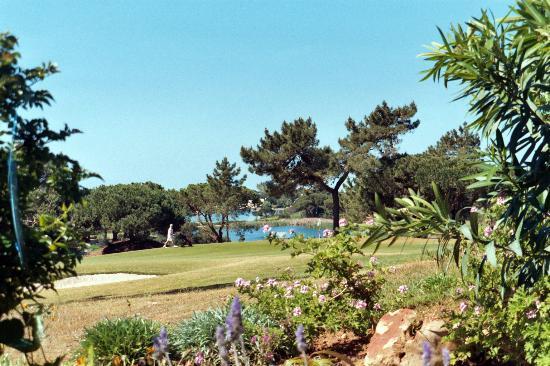 Almancil, Portugal : Quinta do Lago Sul golfcourse from Vilar do Golf