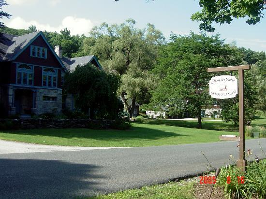 Front entrance from the road - Picture of Stonover Farm Bed and Breakfast, Lenox - TripAdvisor