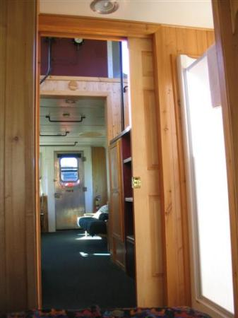Train Station Inn: Here is a view from our bedroom into the sitting room