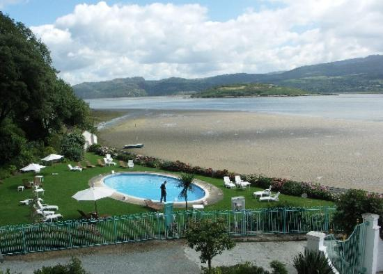 View of viillage from woodland walk picture of hotel portmeirion penrhyndeudraeth tripadvisor for North wales hotels with swimming pools