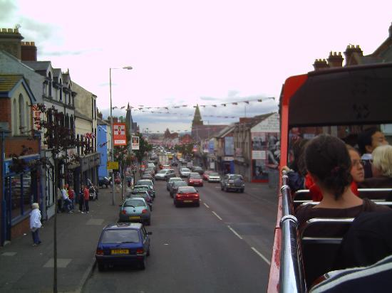 Belfast, UK: Top of The Shankill from a bus