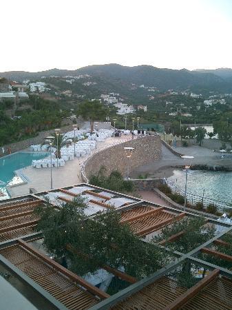 Dessole Mirabello Beach & Village: Main pool, and the beach - when there's no wedding