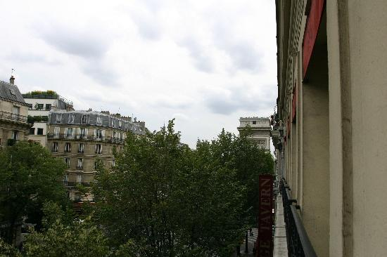 Hotel Elysees Paris: view from the room