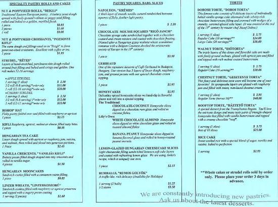 Another Section Of The Tulipan Cafe Menu Picture Of