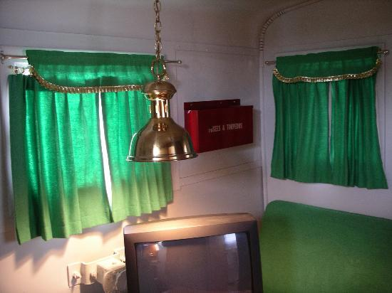 Avoca, NY: Caboose Motel - the surreal curtains