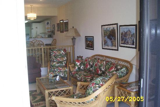 Pelican Cove Condos: Condo Living Room