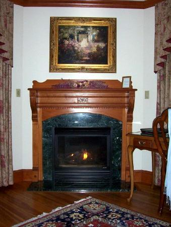 The Wentworth: Each deluxe room has a gas fireplace