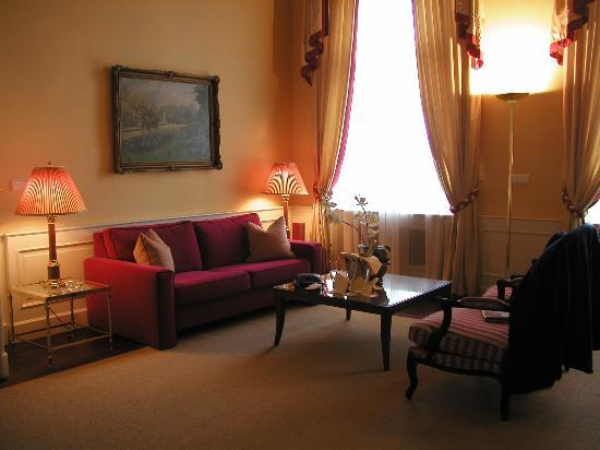 Le Palais Art Hotel Prague: one of the living/sitting rooms