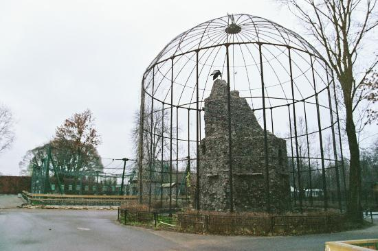 Leningrad (St Petersburg) Zoo: One of the old, elegant cages at the Zoo