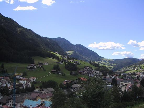 View towards Ortisei from Alpenheim