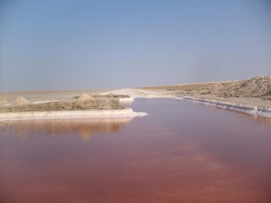Hotel Emira : The red pools at the Salt Flats