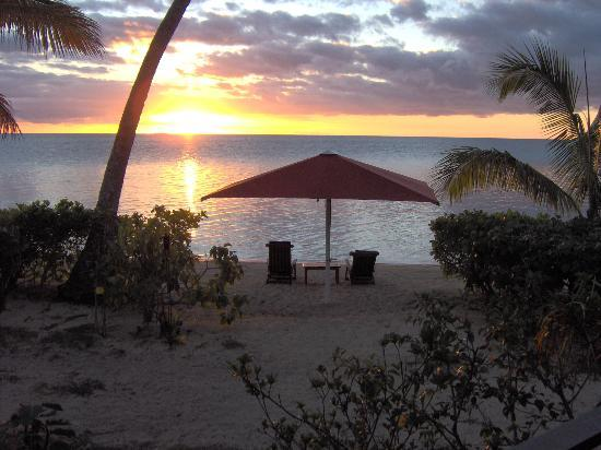 Nukubati Private Island: Sunset view from our bure
