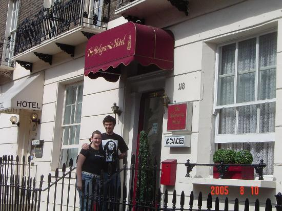 The Belgravia Hotel: Stacy and Wayne standing in front of Belgravia the morning we left.