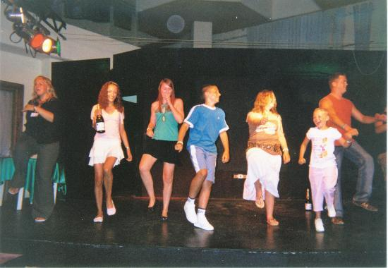 Fiesta Hotel Tanit: performing the dance on stage