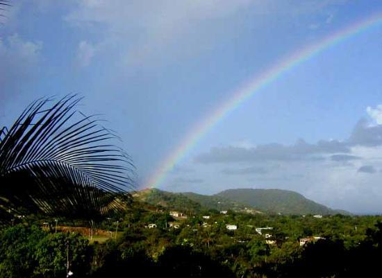 Isla de Vieques, Puerto Rico: After a shower, a lovely rainbow over Vieques