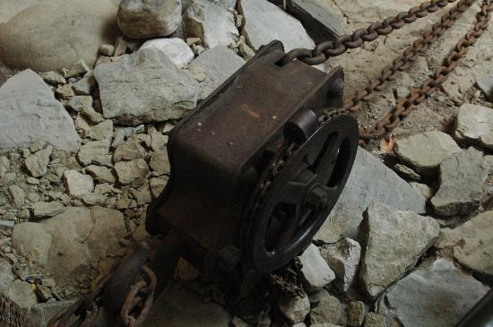 Lucerne, Switzerland: Apparatus used to hawl the rocks