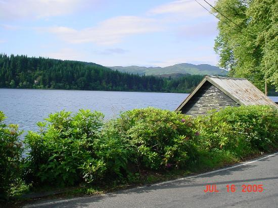 Macdonald Forest Hills Hotel & Resort: Boat house across from the resort