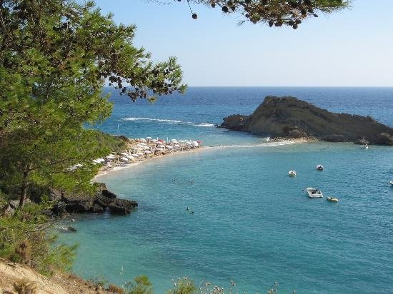 Platis Gialos, Griekenland: The private beach