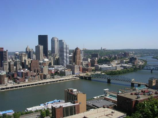 Pittsburgh, PA: From overlooks on Grandview Ave., Mt. Washington