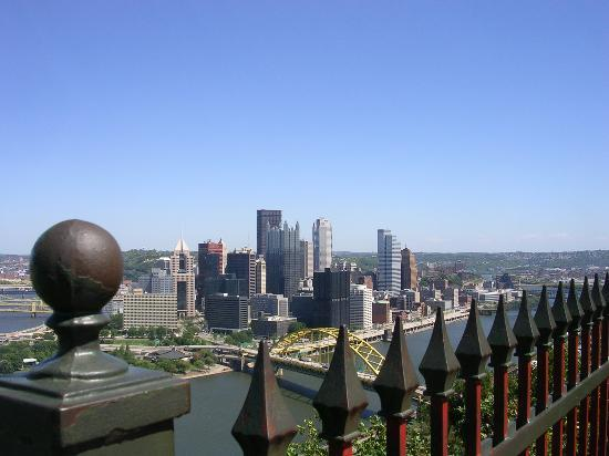 Pittsburgh, PA: From the overlook at the top.