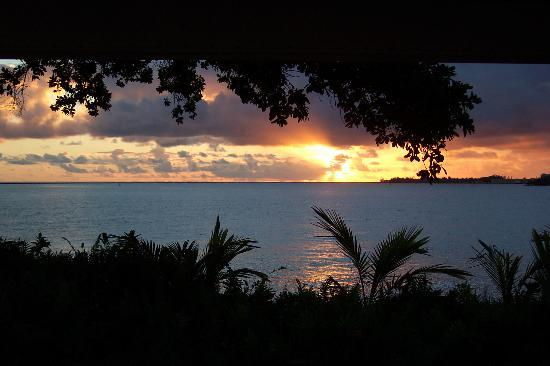 The Bay House: Sunrise-taken from the lanai