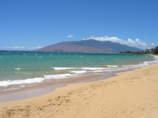 Kamaole Beach Royale Resort, ( #608): West Maui mountain from Kama'ole Beach I