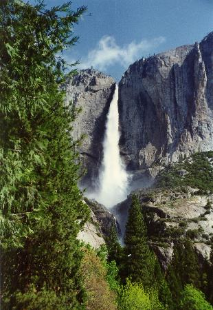 Half Dome Village: Yosemite Falls in May
