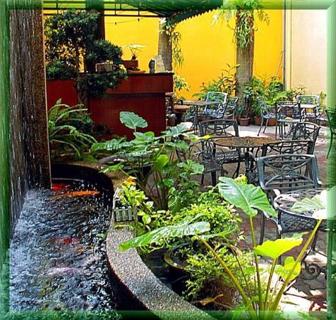Hotel Puri: Garden and water wall
