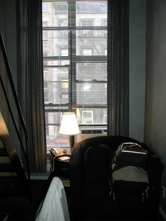 The Frederick Hotel: The two-story window in the miniloft