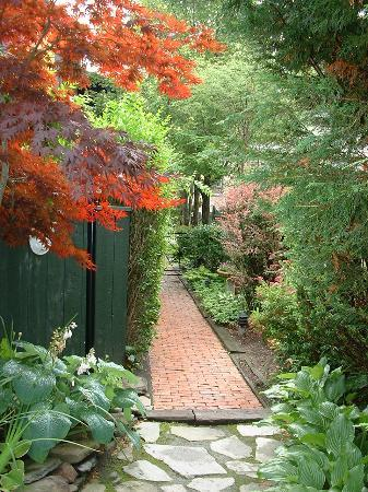 Victorian Ladies Inn: Pathway leading to the Annadale House which houses several b & b rooms