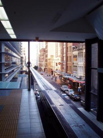 The Crest Hotel: Riding the Monorail over Sydney...