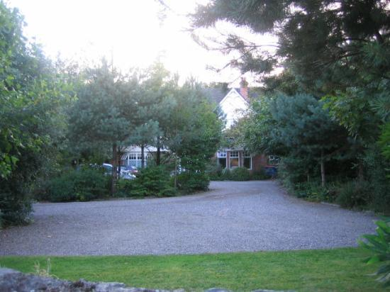 Fuchsia Guest House : View of the front of the house behind trees