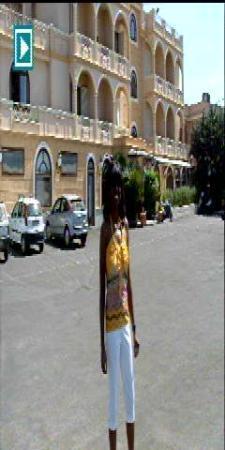 Il Gabbiano Hotel: My wife, Vernie, in front of the Il Gabbiano.