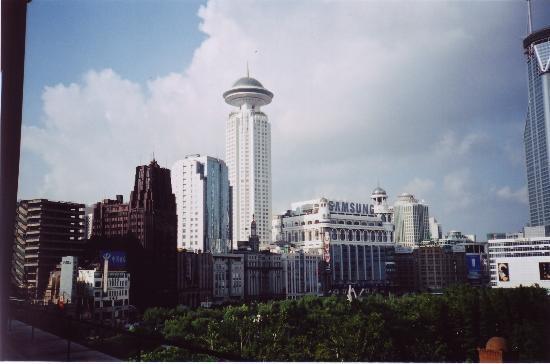 Park Hotel Shanghai: Park Hotel (on left), across Renmin Square